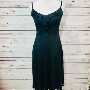 {PATAGONIA} Black Ruffle Top Tank Dress